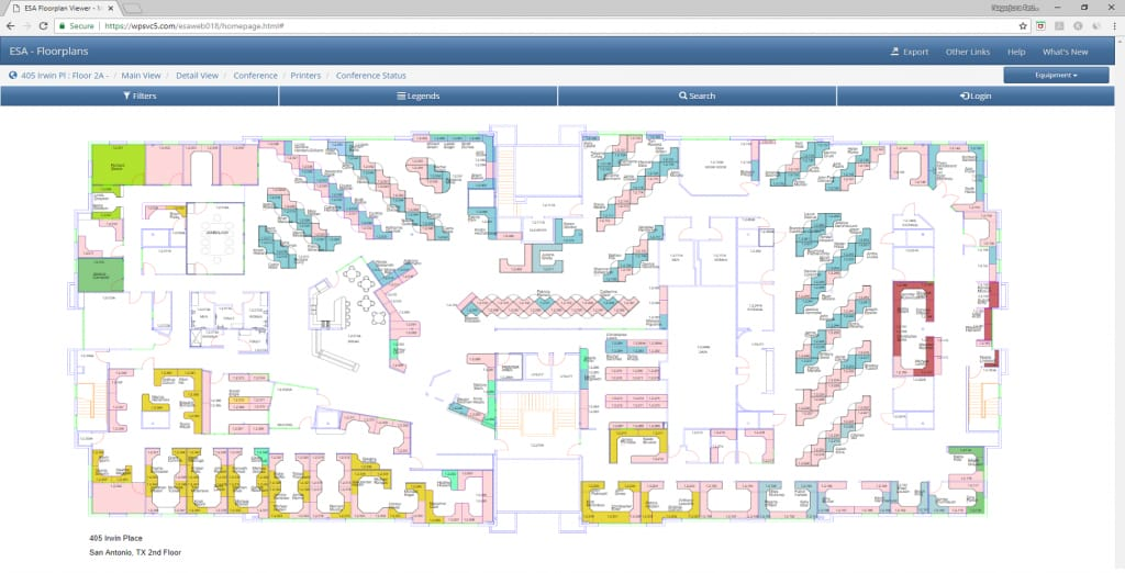 Web Floorplan Viewer - Facility Management System